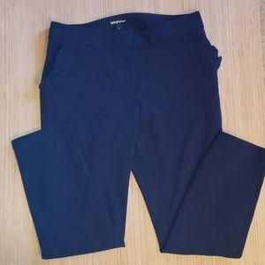 Navy ruffled pocket ankle dress pants sz medium
